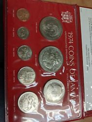 1974 Coins Of Jamaica Uncirculated Silver Set
