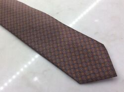 Beautiful Menand039s Brioni Gray Orange And Blue Dress Silk Neck Tie Italy
