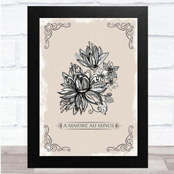 Vintage Flower Fade Brown Fa Maiore Ad Minus Distressed Wall Art Print