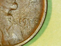 1922 Plain No-d Cent Brown Circulated American Plain Wheat Penny
