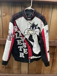 Vintage Y2k Lot 29 Sylvester The Cat Looney Tunes Racing Jacket Womens Sz Large