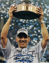 Tony Dungy Autographed/signed Indianapolis Colts 8x10 Photo Bas 29762