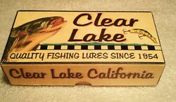 Clear Lake Nice Lakeport California Fishing Lure Boxes Cabin Decorations