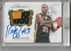 2017-18 Panini Flawless Reggie Miller Patch Auto Gold Autograph Card Limited To