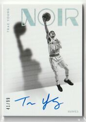 2018-19 Panini Noir Trae Young Rc Auto Autograph Card /99 Limited To 99 Pieces