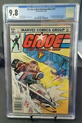 G.i. Joe Real American Hero 11 Newsstand 1983 Cgc 9.8 White Pages