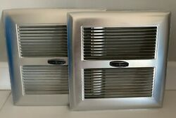 [ Set Of 2 ] Vintage Aluminum Emerson Square Exhaust Fan Cover Only 11 3/8