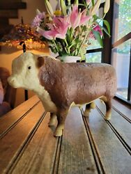 Vtg 12 Breyer Polled Hereford Bull Cow W/old Mark Traditional Scale Gloss 74