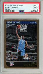Kevin Durant 2014-15 Panini Hoops 212 Gold Psa 9 Mint Pop 1 1745