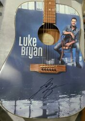 Luke Bryan Signed Epiphone Guitar Jsa Limited Ed Born Here Die Here Graphic...