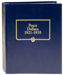 New Whitman Official Classic Peace Silver Dollars 1921 To 19351 Coin Album 9130