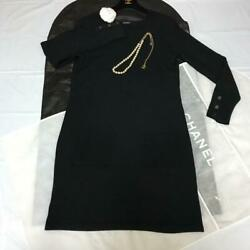Sale  Coco Mark Button Cashmere Knit Dress From Japan Fedex No.6664