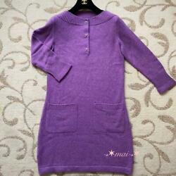 Sale Turn Lock Long Sleeve Cashmere Knit Dress From Japan Fedex No.6798