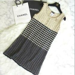 Authentic 2012 Coco Mark Button Sleeveless Dress 38 Free Shipping No.6921