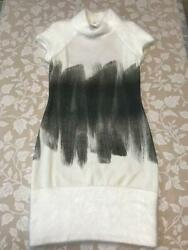 Authentic Softly White Knit Dress Free Shipping No.7104
