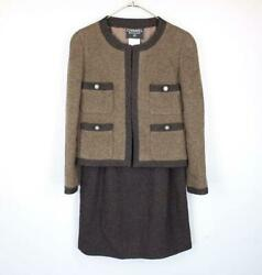 Sale  Boutique Coco Mark Button Tweed Setup From Japan Fedex No.8385
