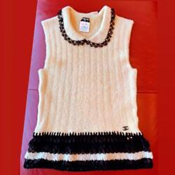 Authentic Sleeveless Knit With Lace Free Shipping No.8960