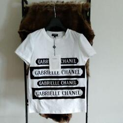 Authentic Gabrielle Logo Tshirt Color White Free Shipping No.8980