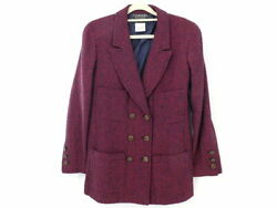 Beautiful Coco Mark Double Button Jacket Wool Silk And More Pink No.6485