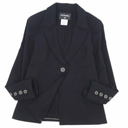 11c P39 Coco Mark Button Lining Camellia Jacket Outer Women's No.6492