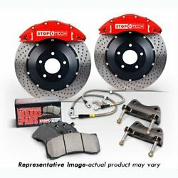 Stoptech 83-780470082 Front Big Brake Kit 355mm X 32mm 2 Piece Drilled Rotors Ye