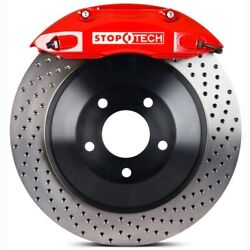 Stoptech 82-241610072 Front Big Brake Kit 1 Piece Rotor See Vehicle Fitment Tab