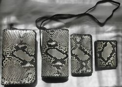 Authentic Python Snakeskin Handmade Purse Wallet Planner And Checkbook Cover