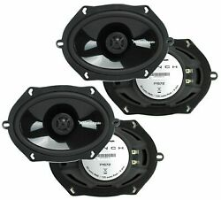 2 Rockford Fosgate P1572 5x7 Punch Series 2-way Coaxial Car Speakers