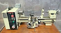 Jet 321376 Bd-920w Belt Drive Bench Lathe 9 Swing 18 Centers With Steady Rest