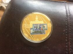 24kt Gold-layered Franklin 100 Banknote Prooffull Color Coincoalow Mintage