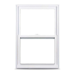 Single Hung White Vinyl Window 35.375 In. X 51.25 In. With Nailing Flange