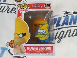 Tone Rodriguez Signed Sketched Grampa Funko Pop Beckett Bas Coa The Simpsons