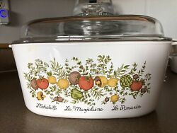 Vintage Corning Ware 5 Litre A-5-b Spice Of Life Dutch Oven Casserole With Lid