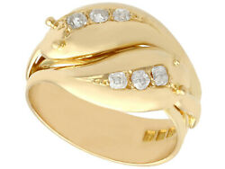 Antique 1930and039s 0.54ct Diamond And 18carat Yellow Gold Snake Dress Ring Size T