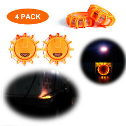 4 Packs Magnetic Led Road Flare Emergency Sos Lights For Vehicles And Boat Flares