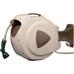 Rl Flo-master Retractable Garden Hose And Reel With Auto Rewind 65 Foot Water Tool
