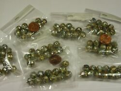 100 Pieces 9mm - 10mm Handmade Inlaid Mother Of Pearl Shell Beads Lot Dx-2