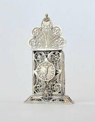 Vintage 925 Sterling Silver Spice Container Filigree Traditional Judaica Shabbat