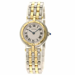 Pantheresm Round 2 Row Watches Stainless Steel/ssx18k Yellow Gold L...