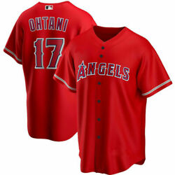 Men's Shohei Ohtani Red Los Angeles Angels Player Jersey Fan Made Jersey Xs-5xl
