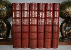 1881 Works Of Alain Rene Le Sage 6 Vols Ramage Binding Numbered Limited Edition