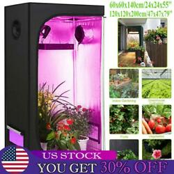 Hydroponic Plant Grow Tent Indoor Green Room Canopy Mylar Silver 600d Oxford Us