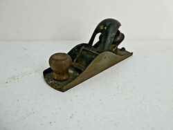 Vintage Stanley No 110 Block Plane Smooth Bottom Carpentry Woodworking Tool C22