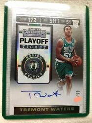 Hot/99 Direct Letter Rc Auto 2019-20 Panini Contender Tremont Waters Rookie