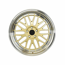 18 Gold Wheels Lm Style - Bmw 3 Series 328i 330i 335i Stag Set Of 4 W882