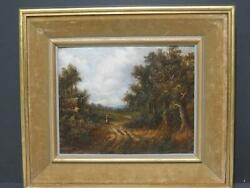 Pair Antique Oils Alfred Dumont B.1828 Provenance Ex Stacy-marks Research