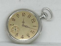 Authentic Patek Gents Sterling Pocket Watch W/ Extract Papers Running