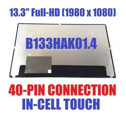 13.3and039and039 Fhd Led Lcd Display B133hak01.4 Touch Screen Digitizer Panel 40 Pins