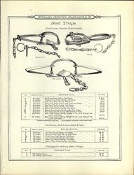 1895 Paper Ad Newhouse 6 5 Grizzly Black Bear Leg Hold Trap Spring Lake Boat