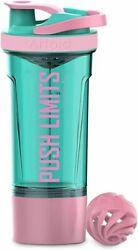 Mode Inspirational Fitness Workout Sports Shaker Bottle 24-ounce, Dual Mixing